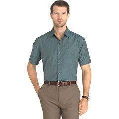 Men's Van Heusen Air Wovens Classic-Fit Poplin Performance Button-Down Shirt
