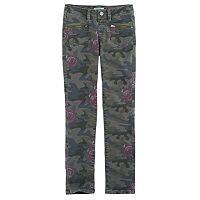 Girls 7-16 & Plus Size Mudd® Camo Ankle Skinny Jeans