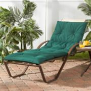 Greendale Home Fashions Four-Section Indoor Outdoor Reversible Chaise Lounge Cushion