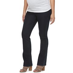 Maternity a:glow Belly Panel Faded Bootcut Jeans