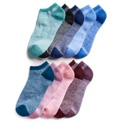 Women's Tek Gear® 10-Pack Marled No-Show Socks