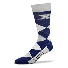 Adult For Bare Feet Xavier Musketeers Argyle Crew Socks