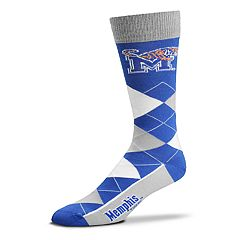 Adult For Bare Feet Memphis Tigers Argyle Crew Socks