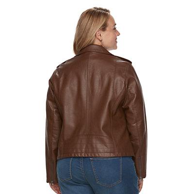 Plus Size Levi's Faux-Leather Jacket
