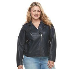9116fa3fa3e Plus Size Levi s Faux-Leather Jacket