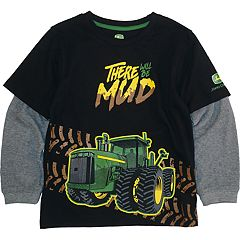 Boys 4-7 John Deere 'There Will Be Mud' Mock Layer Graphic Tee
