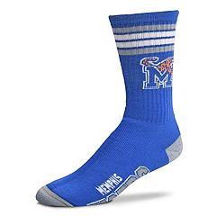 Adult For Bare Feet Memphis Tigers Deuce Striped Crew Socks