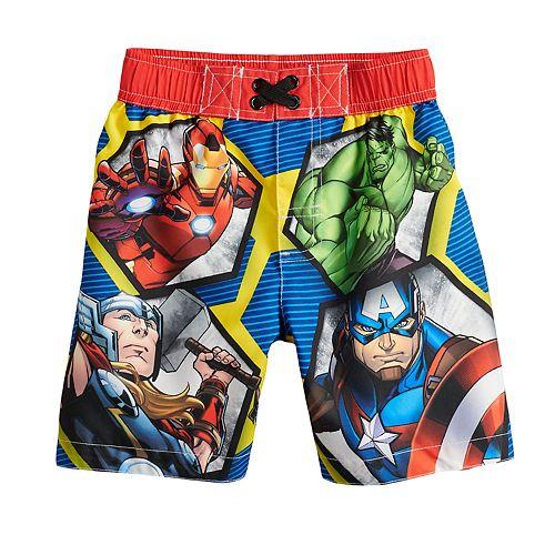 d0125289c9 Toddler Boy Marvel Avengers Swim Trunks