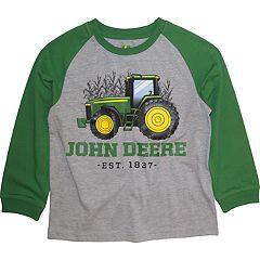 Boys 4-7 John Deere Tractor 'John Deere Est. 1837' Raglan Graphic Tee