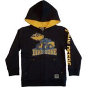 "Boys 4-7 John Deere Front Loader ""Dirt Zone"" Zip Hoodie"