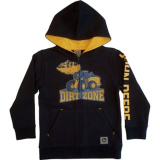 "Boys 4-7 John Deere Front Loader ""Dirt Zone"" Zip Hoodie"