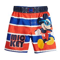 Disney's Mickey Mouse with Sunglasses Toddler Boy Swim Trunks