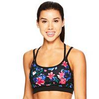 Gaiam Stella Strappy Yoga Medium-Impact Sports Bra GAW181BR12