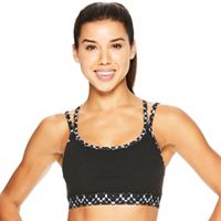 Gaiam Stella Strappy Yoga Medium-Impact Sports Bra GAW181BR12