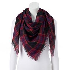 Women's Candie's® Dark Plaid Square Scarf