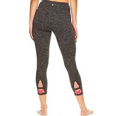 Women's Gaiam Aster Yoga Strappy Midrise Capri Leggings