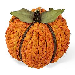 Celebrate Fall Together Large Braided Pumpkin Table Decor