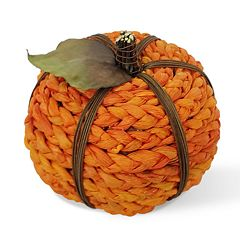 Celebrate Fall Together Small Braided Pumpkin Table Decor