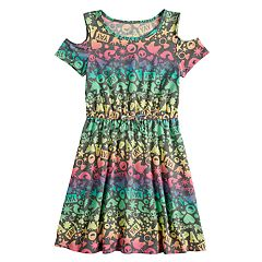 Girls 7-16 & Plus Size SO® Printed Cold Shoulder Dress