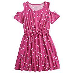Girls 7-16 & Plus Size SO® Printed Cold Shoulder Dress