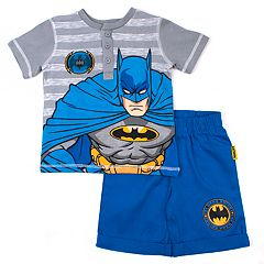Toddler Boy DC Comics Batman Henley & Shorts Set