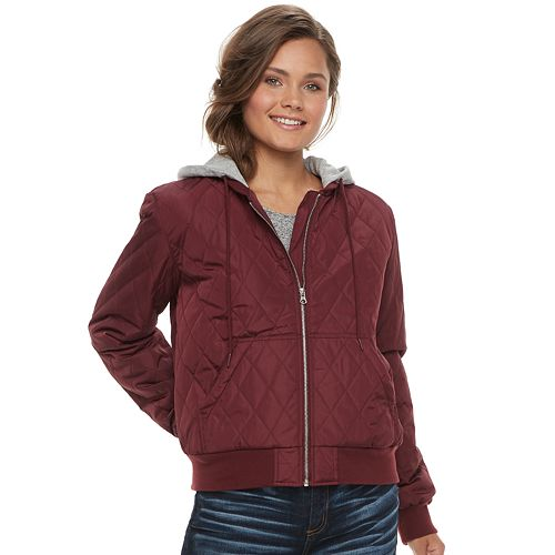 select for genuine attractivedesigns big collection Juniors' Pink Republic Quilted Bomber Jacket