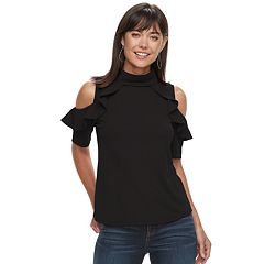 Women's Juicy Couture Ruffled Cold-Shoulder Top