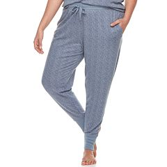 Plus Size Croft & Barrow® Printed Jogger Pajama Pants