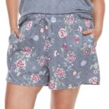 Plus Size Croft & Barrow® Printed Pajama shorts