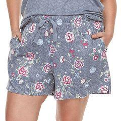 Plus Size Croft & Barrow® Printed Pajama shorts