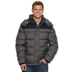 Men's IZOD Quilted Hooded Puffer Jacket