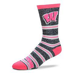 Women's For Bare Feet For Bare Feet Wisconsin Badgers Crew Cut Socks