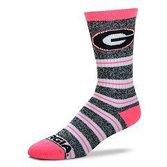 Women's For Bare Feet For Bare Feet Georgia Bulldogs Crew Cut Socks