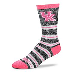 Women's For Bare Feet Kentucky Wildcats Striped Crew Socks