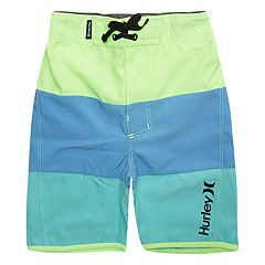 Toddler Boy Hurley Triple Threat Colorblock Board Shorts