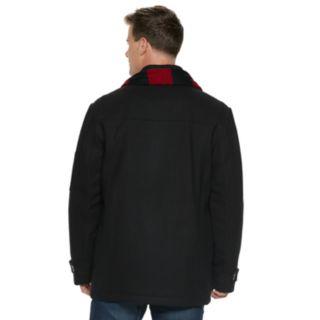 Men's IZOD Wool-Blend Peacoat and Scarf Set