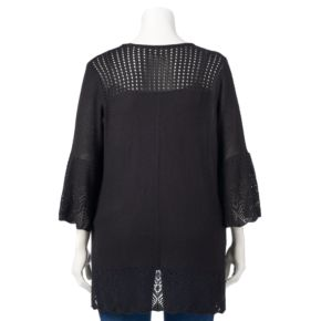 Plus Size LC Lauren Conrad Pointelle Cardigan
