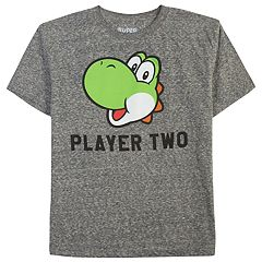 Boys 8-20 & Girls 7-16 Dad & Me Player Two Yoshi Graphic Tee