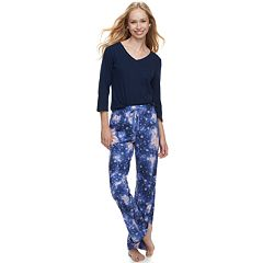 Women's SONOMA Goods for Life™ Basic Tee & Pants Pajama Set