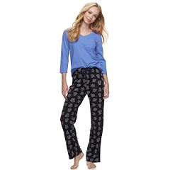 Women's SONOMA Goods for Life™ Basic Tee & Pants Pajama Set
