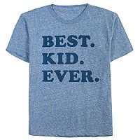 Youth Dad & Me Best Kid Ever Graphic Tee