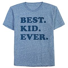 Boys 8-20 & Girls 7-16 Dad & Me Best Kid Ever Graphic Tee