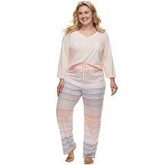 Plus Size SONOMA Goods for Life™ Basic Tee & Pants Pajama Set