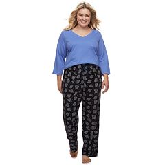 Plus Size SONOMA Goods for Life™ Basic Tee & Pants Pajama Set