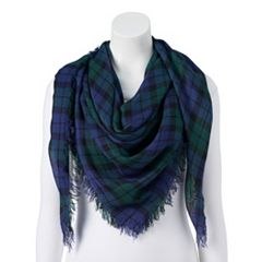 Women's Candie's® Green Plaid Square Scarf