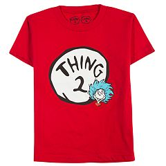 Boys 8-20 & Girls 7-16 Dad & Me Dr. Seuss Thing 2 Graphic Tee