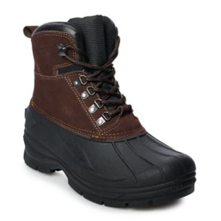 totes Surface Men's Water Resistant Winter Duck Boots