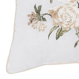 Always Home Juliette Embroidered Throw Pillow