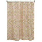 Bacova Mosaic Circles Shower Curtain