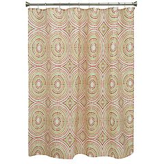 Bacova Mosaic Circles Shower Curtain